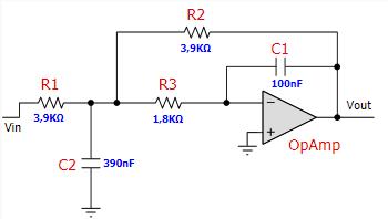 Tl084 схема включения