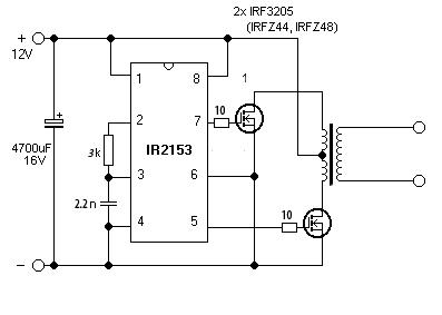 Импульсный блок питания схема на ir2153 с защитой