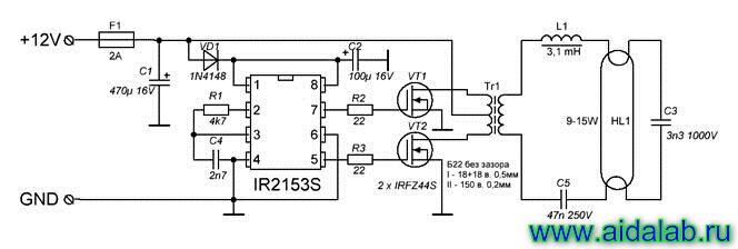 Преобразователь 12в - 220в для