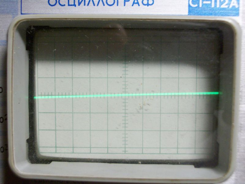 я ложил осциллограф на бок