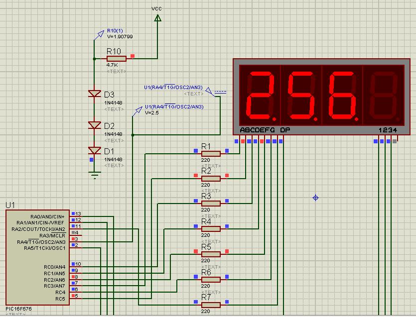 Схема подключения микросхемы pic16f676
