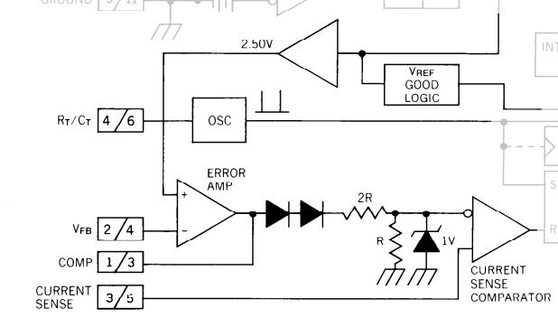 Из внутренней схемы UC3842