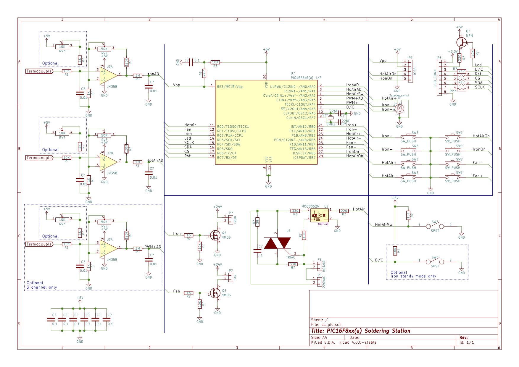 Схемы на микроконтроллере pic16f876a
