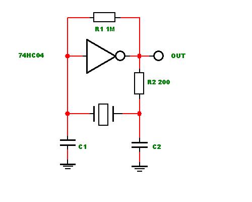 Схема подключения кварцевого генератора частоты с четырьмя выводами