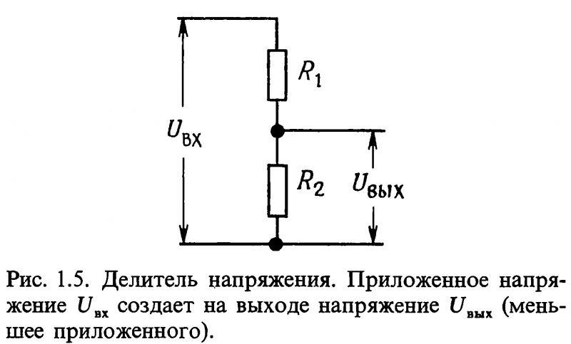 делитель напряжения график