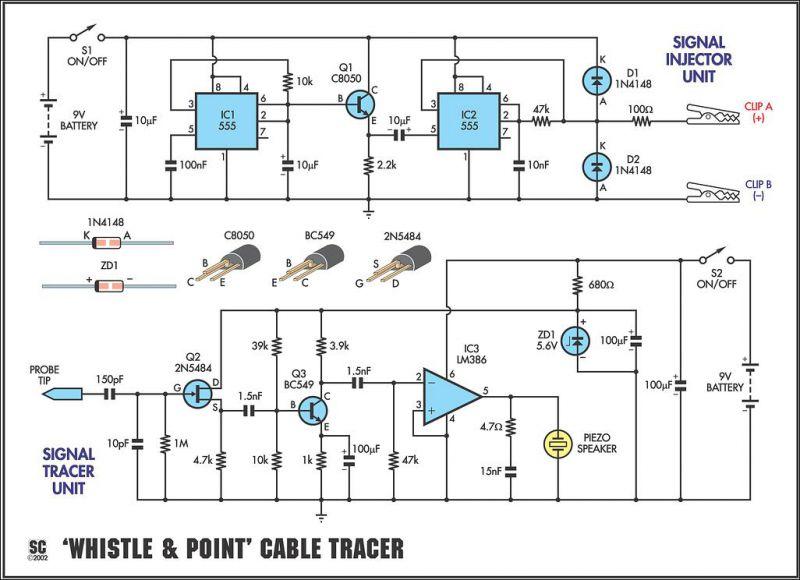 Схема прибор для поиска обрыва провода