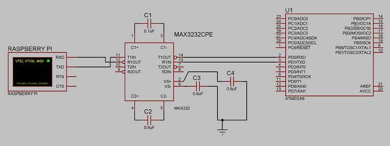 MAX232 стоит MAX3232.
