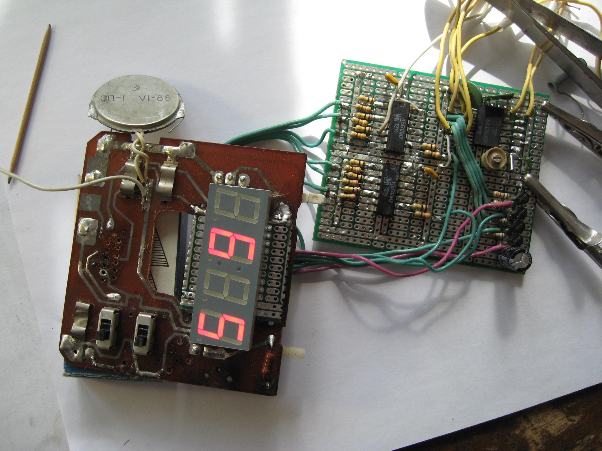 схема часов электроники вм-12