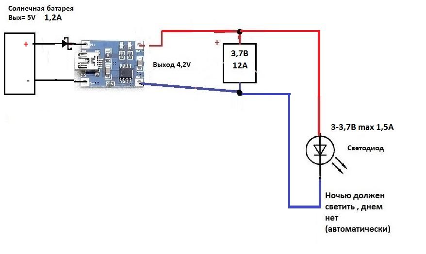Солнечная панель 5 вольт схемы светильники