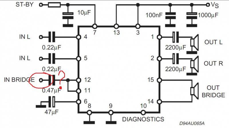 Tda7377 схема усилителя 2.1 на