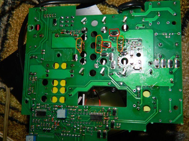 2 транзистора (обведены